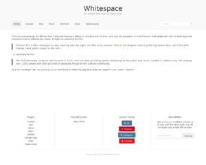 Whitespace demo