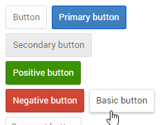 Semantic UI Material buttons theme