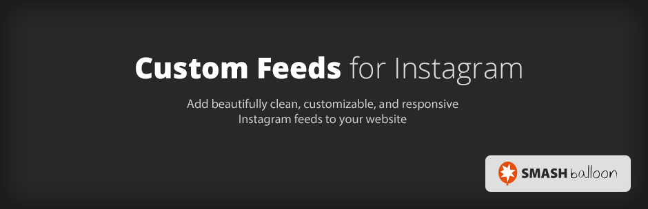 Custom Feeds for Instagram plugin banner