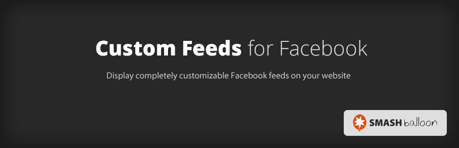 Custom Feeds for Facebook plugin banner