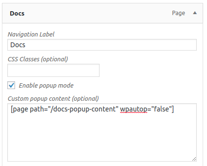 Using page content in popup