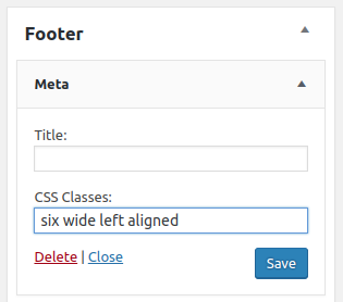 Adding alignment classes to widgets