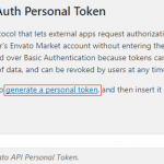 Generate a personal token