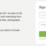 Sign in with Envato account