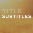 Subtitles plugin icon